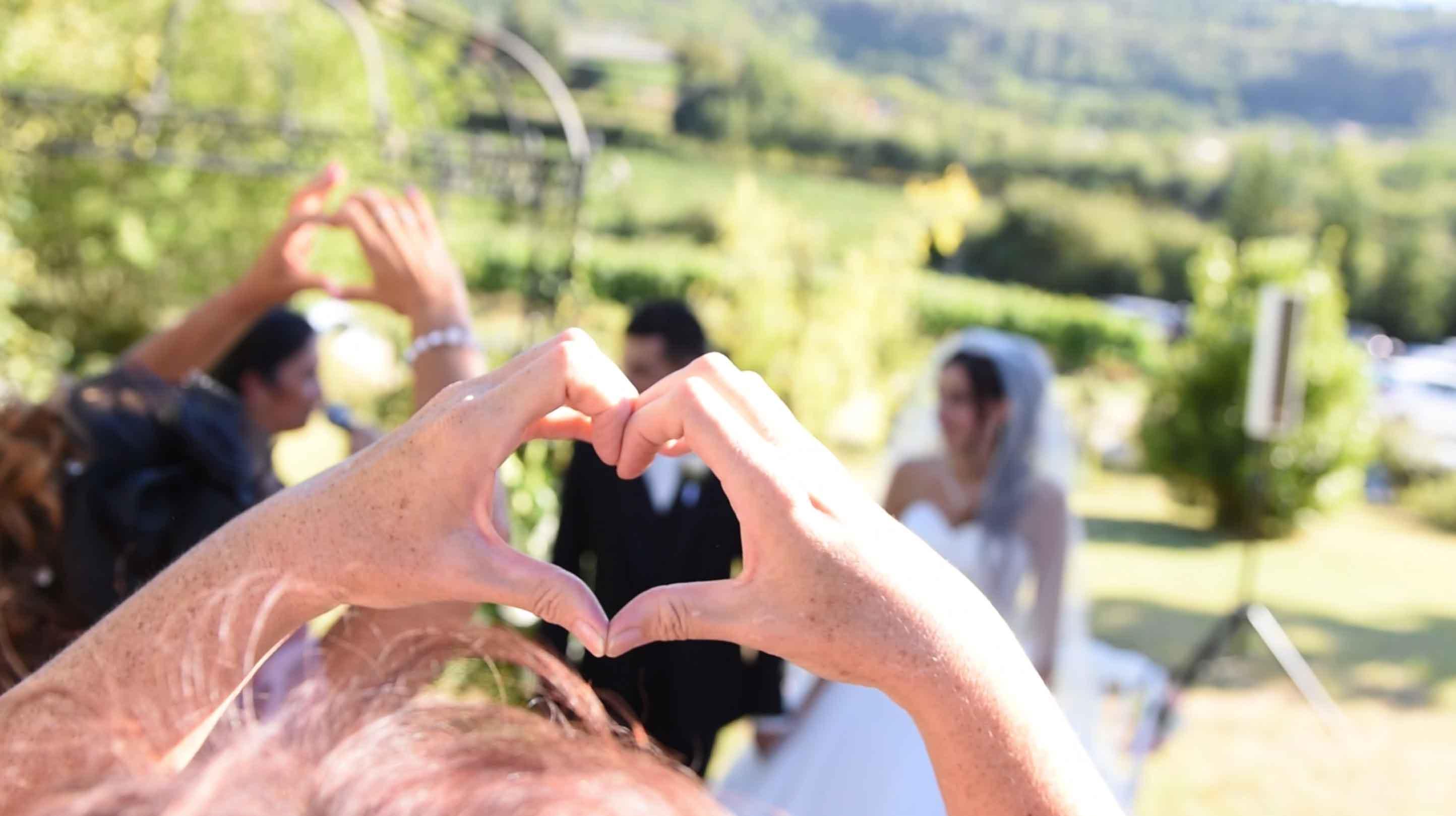 Vidéo et film à terre du mariage de Bastien et Marina